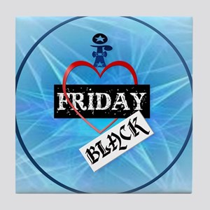 I Love Black Friday-circle Tile Coaster