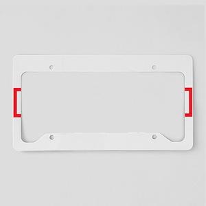 Amiga Guru-white print License Plate Holder