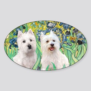 MP2-rises-Westies 3and11-smaller Sticker (Oval)