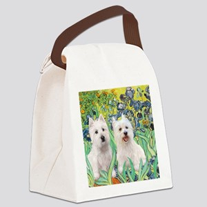 MP2-rises-Westies 3and11-smaller Canvas Lunch Bag