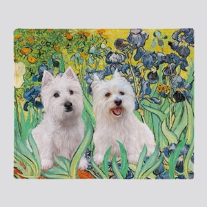 MP2-rises-Westies 3and11-smaller Throw Blanket