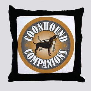 Coonhound-Companion-logo_embroidery Throw Pillow