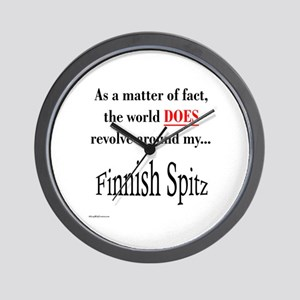 Finnish Spitz World Wall Clock