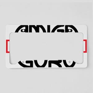 Amiga Guru - black print License Plate Holder