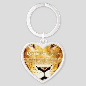 Lion of Judah3 Heart Keychain