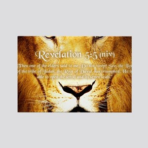Lion of Judah3 Rectangle Magnet