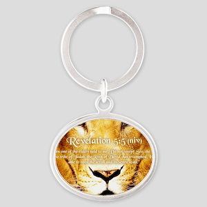 Lion of Judah3 Oval Keychain