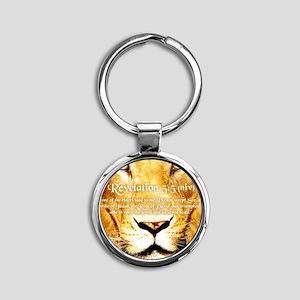 Lion of Judah3 Round Keychain