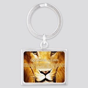 Lion of Judah3 Landscape Keychain