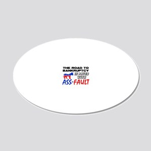 assfaultfinal 20x12 Oval Wall Decal
