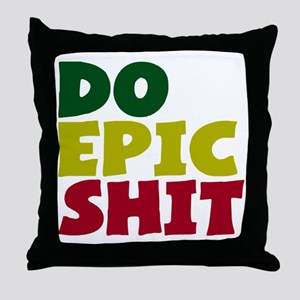 2000x2000doepicshitrastaflagclear Throw Pillow