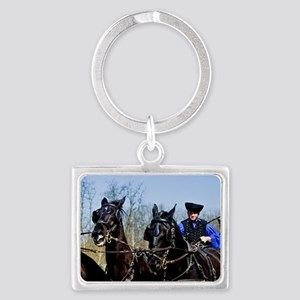 A horse show at the' LAZAR Eque Landscape Keychain