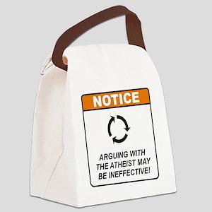 Athiest_Notice_Argue_RK2011 Canvas Lunch Bag