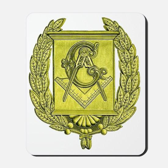 Masonic Gold Emblem Mousepad