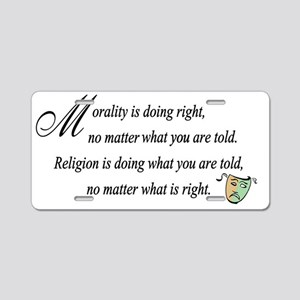 Morality1 Aluminum License Plate