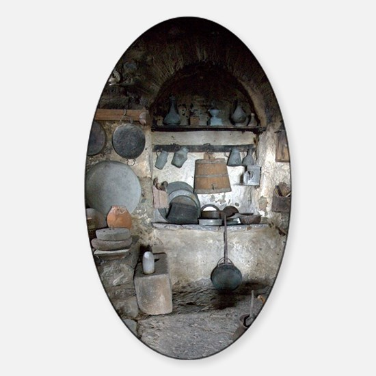Greece, Meteora. Kitchen of Grand M Sticker (Oval)