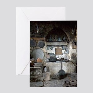 Greece, Meteora. Kitchen of Grand Me Greeting Card