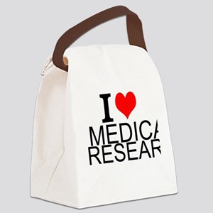 I Love Medical Research Canvas Lunch Bag