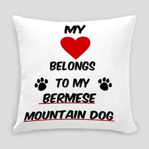 Bermese Mountain Dog Everyday Pillow