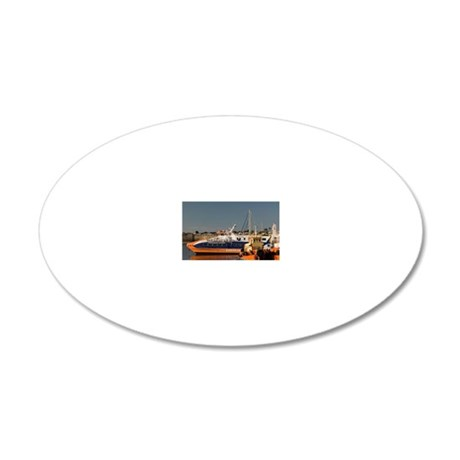 Reflections of Tugboats 20x12 Oval Wall Decal