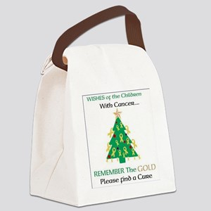 Christmas Card-(Wishes of the Chi Canvas Lunch Bag