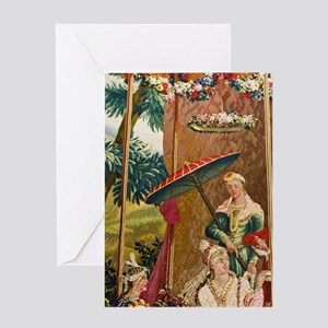 Residenzmuseum, Chinese tapestry roo Greeting Card