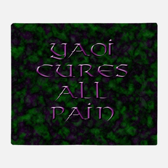 Yaoi Cures All Pain 1 Throw Blanket