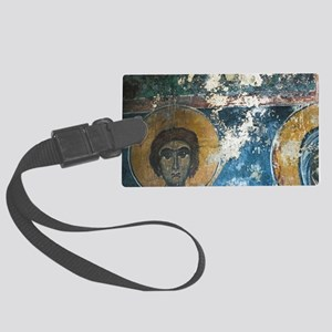 Ano Vianos: Unrestored Fresco in Large Luggage Tag