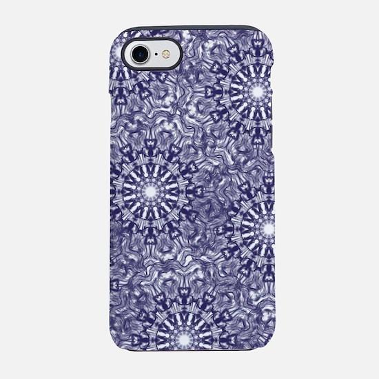 Blue Lace iPhone 7 Tough Case