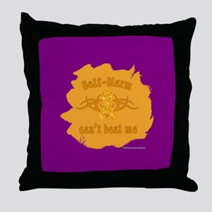 Beat Self-Harm Throw Pillow