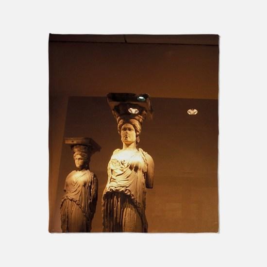 Acropolis. 4 original Caryatids in A Throw Blanket