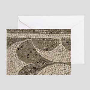 Pompeii. Mosaic floor patterns in th Greeting Card