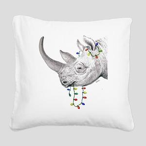 rhinolights Square Canvas Pillow