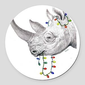rhinolights Round Car Magnet