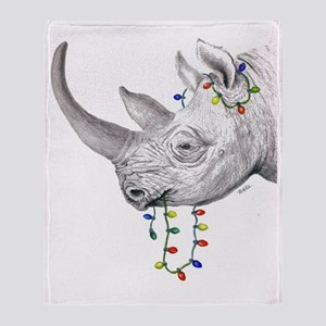 rhinolights Throw Blanket
