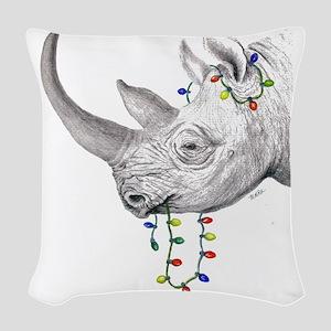 rhinolights Woven Throw Pillow