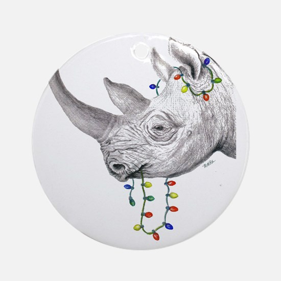 rhinolights Round Ornament