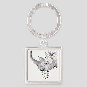 rhinolights Square Keychain