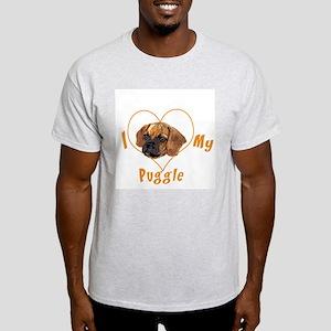 I love my puggle (orange) Light T-Shirt