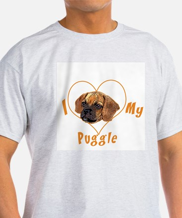 I love my puggle (orange) T-Shirt
