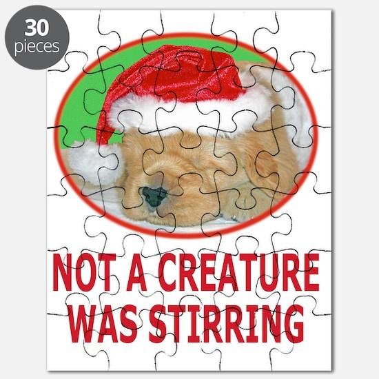 Golden Retriever Puppy Beautiful Christmas  Puzzle