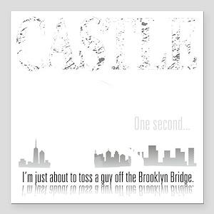 "Castle_BrooklynBridge_da Square Car Magnet 3"" x 3"""