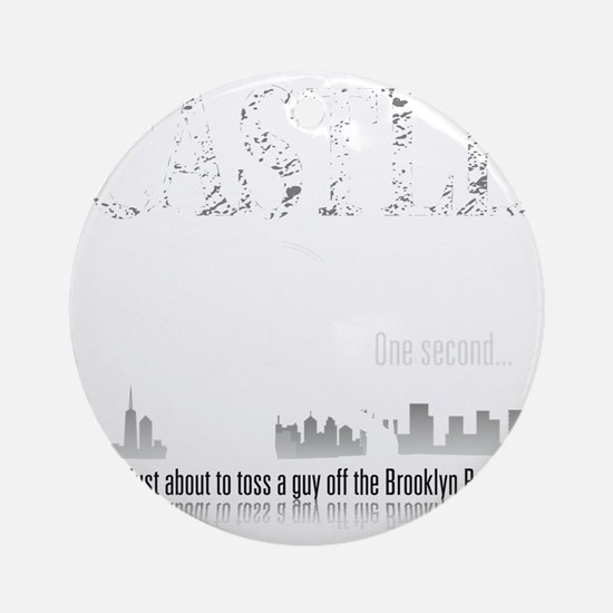 Castle_BrooklynBridge_dark Round Ornament