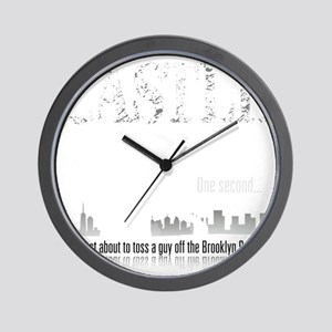 Castle_BrooklynBridge_dark Wall Clock