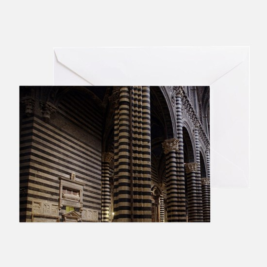 Duomo di Siena is the medieval cathe Greeting Card