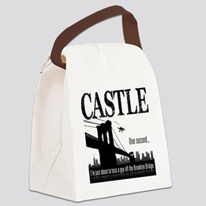 Castle_BrooklynBridge_lite Canvas Lunch Bag