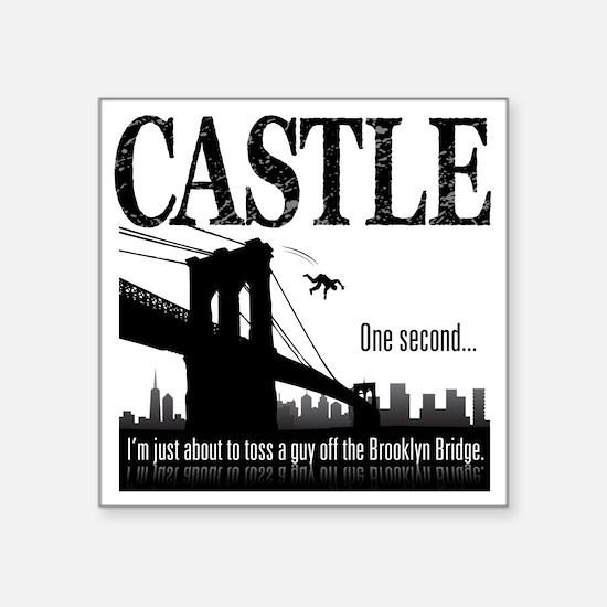 """Castle_BrooklynBridge_lite Square Sticker 3"""" x 3"""""""