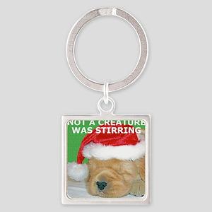 Golden Retriever Puppy Beautiful C Square Keychain