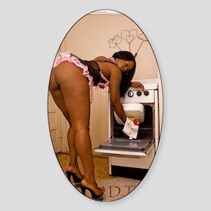 Sexxy French Maid Sticker (Oval)
