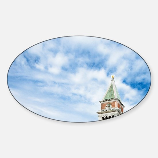 Italy - A bird is flying in the sky Sticker (Oval)